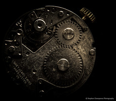 The Timepiece (Stephen Champness) Tags: old macro up metal vintage nikon mechanical wind time watch timepiece adobe 1855mm piece windup cogs hdr lightroom steampunk nikond3200 photomatix adobelightroom d3200 nikon1855mm