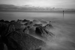 Rocky Groyne (Pedrosky.) Tags: longexposure bw seascape beach kent groyne hythe canon7d