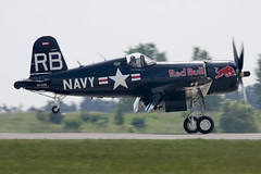 F4U-4 Corsair at ILA 2014 (atg3v) Tags: warbird ila berlin sxf schoenefeld eddb vought corsair fighter oeeas redbull usnavy f4u f4u4 germany
