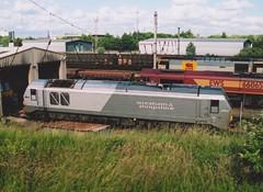 "Wrexham & Shropshire Class 67, 67014 (37190 ""Dalzell"") Tags: wrexhamshropshire silvergrey gm generalmotors alstom valencia skip class67 67014 pathfindertours thelakedistrictexplorer railtour arpleyyard warrington"