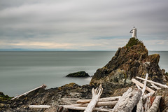 Cape Roger Curtis Lighthouse (luke.me.up) Tags: longexposure nd110 water ocean lighthouse rocks shore sky clouds