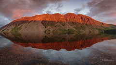 The Screes (daveadam84) Tags: lakedistrict landscape wastwater lake water clouds sunset red rocks light dusk evening canon panorama stitched 650d