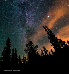 A Colourful Sky (Glen Eldstrom) Tags: milkyway colourfulsky night nightphotography starrynight stars silhouette trees kelowna britishcolumbia okanagan bigwhite longexposure landscapelovers landscape