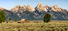 Barn with a View (Ron Drew) Tags: nikon d800 moultonbarn grandtetonnationalpark antelopeflats mormonrow barn mountains national park nationalpark morning summer wyoming rockymountains