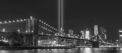 Brooklyn Bridge Tribute In Lights Panorama (Mike Ver Sprill - Milky Way Mike) Tags: never forget 911 america murica merica freedom town tribute lights light statute libery ladyliberty lady liberty new york city nyc night skyline michael mike versprill explore travel amazing beautiful usa fuck yeah couple brooklyn manhattan dumbo china bridge long exposure scape outdoor architecture ground zero wtc world trade center panorama stacked photos less noise