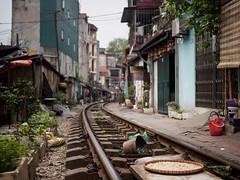 rice on rails (grapfapan) Tags: peace poetry street railways tracks urban vietnam hanoi