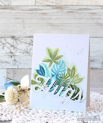 HUGS (RejoicingCrafts) Tags: simonsaysstamp tropicalleaves hugs papercrafts cardmaking stamping handmade cards summer