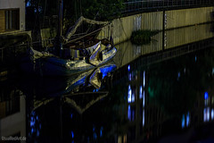 Little Amsterdam (UsualRedAnt) Tags: 70d grau canon tamron70300mm boot spree blau f80 wasser deutschland berlin mitte fahrzeug fischerinsel nacht flus germany