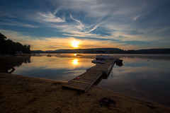 By the lake - EXPLORED (Sept 3,2016) (JD~PHOTOGRAPHY) Tags: sunrise beach landscape dawn sky reflection shore bythelake lake algonquinpark algonquin water dock