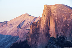 Half Dome and Clouds Rest (isaac.borrego) Tags: uploadedviaflickrqcom mountains valley light evening sunset glacierpoint halfdome yosemite nationalpark canonrebelt4i