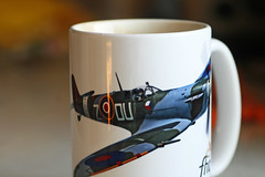 MacroMondays @Planes,Trains And Automobiles (sarahellenspringer) Tags: macromondays planestrainsautomobiles spitfire coffee mug cup airplane