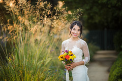 August Bride (Maxinux40k) Tags: 2016 afs85mmf14g august california goldenhour mitchellcipriano nikkor nikon outdoors paloalto bride flowers outdoor weddingdress wedding girl flower portrait fasion summer bridal