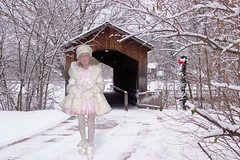 On my way (marcia2015au) Tags: tv cd crossdresser crossdressing sissy dressing cosplay petticoats littlegirl adultlittlegirl partydress partyfrock flounces frills furcoat