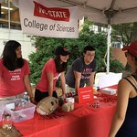 Students with a chemistry exhibit at Packapalooza