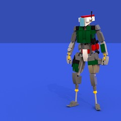 Jester, I hardly know her. (SPARKART!) Tags: jester titanfall robot drone sparkart lego soldier
