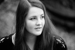 Untitled (urmeklein) Tags: girl woman beauty shooting portrait frau natur herbst stark strong black white bw schwarz weis ernst serious