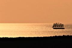 Vascello fantasma (66Colpi) Tags: veliero cinquealberi tramonto giallo gold mare vele vascello