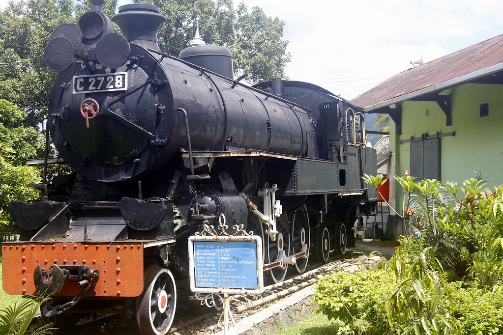 Steam train at the Ambarawa Train Museum, Bandungan and Kopeng, Central Java, Indonesia