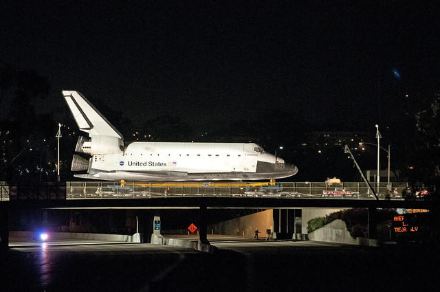 Endeavour over the 405