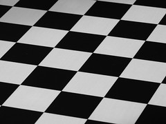 Chess anyone? (Powskichic of Bend) Tags: white black diamonds pattern squares columns chess rows checkers chessboard createbeauty