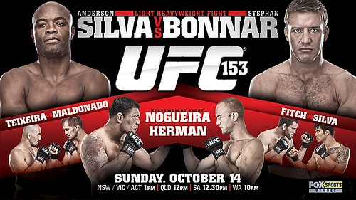 UFC 153  Silva Vs Bonnar & Silva Vs Fitch - BRAZIL LIVE VIDEO STREAM
