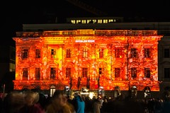 Berlin Festival of Lights 2012: Hotel de Rome (Lens Daemmi) Tags: rome berlin festival germany de lights hotel festivaloflights 2012 fol