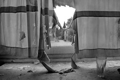 Venice - Ex Ospedale al Mare (luca marella) Tags: bw italy white black building abandoned window glass buildings hospital blackwhite decay curtain pb bn e sanatorium explorers venezia bianco nero lido urbex hospitals tresspass lidodivenezia marellaluca