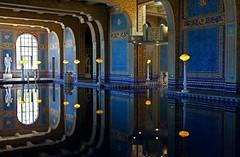 Indoor Pool at Hearst Castle (gordeau) Tags: reflection window pool lights gordon ashby unanimous flickrchallengegroup flickrchallengewinner thechallengefactory thepinnaclehof gordeau hearstcastlecaliforniasansimeon tphofweek174