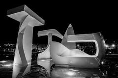 Lights on The Runway (Lisa.Ng) Tags: newzealand sculpture water night lights nightlights wellington waterfeature wellingtoncbd canon50d lisang wellingtonboatsheds albatrosssculpture lisangphotography wwwlisangphotographyblogspotcom