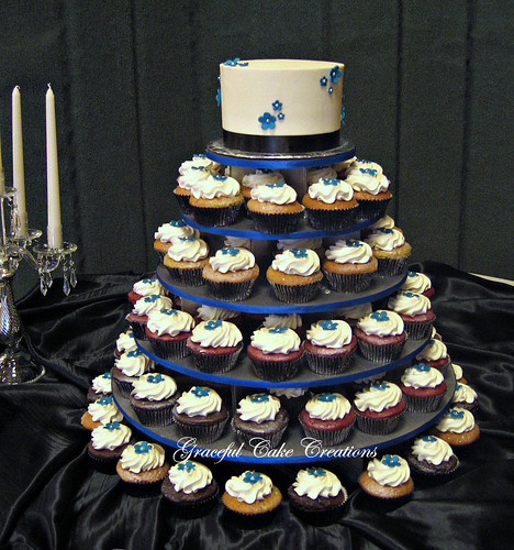royal blue cupcake wedding cakes royal blue and black cupcake wedding cake a photo on 19363