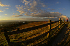 Rivington Pike Summit (Starman_1969) Tags: winter dog mountain tower clouds barn fence landscape manchester evening nikon farm hill lancashire chorley rivington bolton moors mast pike lever horwich rivingtonpikeoct12
