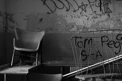 (Colleen Schmitt) Tags: new york newyork building abandoned canon hospital rebel 50mm graffiti suffolk insane crazy chair long paint exploring center cage spray longislandny longisland kings canonrebel spraypaint kingspark asylum psychiatric urbanexploring mental kingsparkpsychiatriccenter suffolkcounty building93 longislandoddities t1i canonrebelt1i canont1i kingsparkny