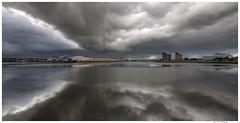 Birkenhead Dock 2 (Brian Gort Wildlife Photography) Tags: sky cloud storm reflection water weather dock ngc explore birkenhead