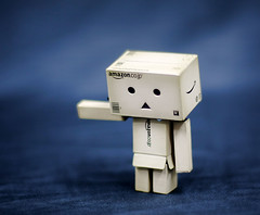 Feeling lonely....... :/ (GManVespa) Tags: canon toy mini danbo revoltech 40d danboard