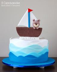 Bolo Ursinho Marinheiro (A CHOCOLARTEIRA) Tags: cake teddy navy bolo ursinho marinheiro teddysailorcake