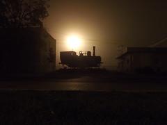 Foggy (vegeta25) Tags: night fuji foggy fujifilm éjszaka ködös mozdony myfuji s3200 522012 52weeksthe2012edition weekofoctober21