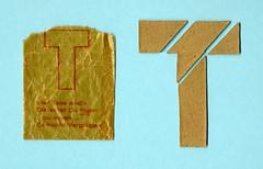 Vierteiliges Puzzle aus brauner Pappe in einer Tüte (altpapiersammler) Tags: vintage bag toy board puzzle verpackung spielzeug tüte pappe