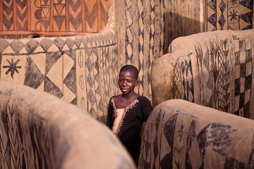 Kassena girl in Tièbelè, Burkina Faso