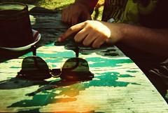 (civcivli) Tags: road camera trip film water yellow analog toy xpro lomography aqua pix underwater tour village ride cross under lofi chrome motorcycle 100 process ankara köy göl eymirlake aquapix