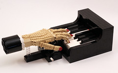 The Pianist (True Dimensions) Tags: hand lego piano 11 technic realistic