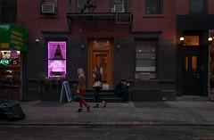 Mulberry Street (Ranga 1) Tags: nyc newyorkcity autumn girls urban usa newyork fall america twilight nikon downtown dusk manhattan candid soho streetphotography explore cinematic nolita urbanlandscape mulberrystreet davidyoung tokina1224mmf4 candidgirls nolitapsychichealer