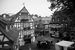 Marktplatz in Idstein, Germany - Black & White (ChrisGoldNY) Tags: travel blackandwhite bw architecture germany deutschland europa europe european forsale squares eu villages viajes german posters albumcover alemania bookcover towns vacations bookcovers marktplatz albumcovers deutsche gridskipper idstein deutscheland jaunted chrisgoldny chrisgoldberg chrisgoldphoto