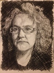 Charcoal study of Jessica McCrae (steve_huison) Tags: portrait art sketch artist drawing charcoal croquis