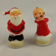 Mr. and Mrs. Claus figures for the music box (feelgoodvintage) Tags: santa christmas music vintage hongkong holidays box 1950s santaclaus 1960s etsy musicbox mrsclaus mrclaus feelgoodvintage