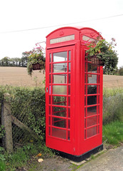 The phone may be gone (The original SimonB) Tags: red suffolk october samsung telephonebox phonebox 2012 witnesham autumnul wb690