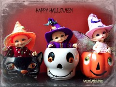 Happy Halloween (fayette2009) Tags: halloween wool witch hats felt outfits woodlandwings