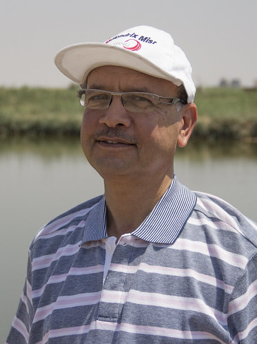 Engineer Mohammed Gouda, private sector aquaculture farmer, Fayoum, Egypt. Photo by Samuel Stacey, 2012