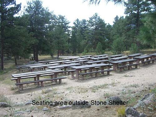 Photo - Stone Shelter Seating Area