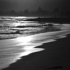 Day's End: Ocean Beach Central Coast NSW Australia (Kangaroobie... .home) Tags: sunset bw beach australia oceanbeach daysend centralcoastnsw