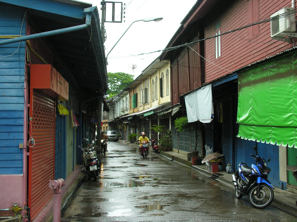 Streets in the wet, Chanthaburi, Thailand